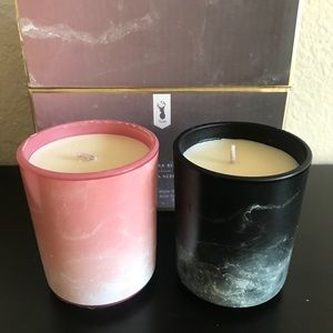 Twin Set Candles, Soy Wax Blend - Vanilla